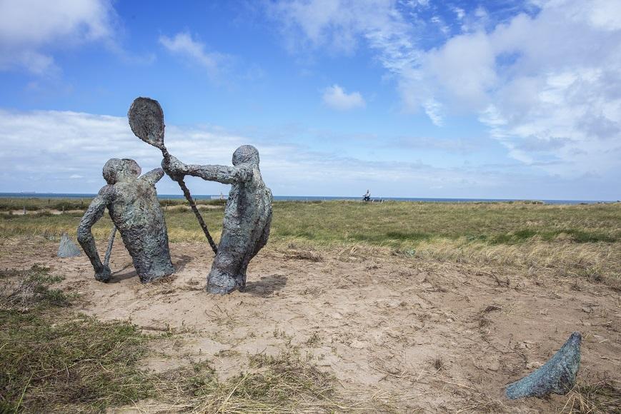 Onthulling monument Engelandvaarders op boulevard Katwijk